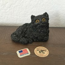 Vintage Classic Critter Littles 1988 Black Longhair Cat Resin Figurine M... - £16.01 GBP