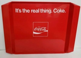 "Vintage Coca-Cola Tri-Mod Co. Plastic Tray ""It's The Coke Real Thing. Coke"" - $22.49"