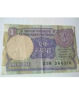 Currency Indian Original One Rupee Note of Montek Singh Ahluwalia Collec... - $1,126.30
