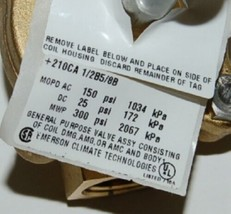 Emerson Climate Technologies 210CA Industrial Solenoid Valve Less Coil image 2