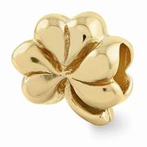 Sterling Silver Gold-plated s Clover Bead by Reflection Beads - $37.27