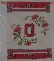 NCAA Ohio State Buckeyes Vertical Flag College Sports 27x37 Red Carnatio... - $12.99