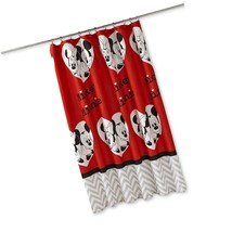 NEW! DISNEY Bathroom Shower Curtain Disney Mickey Mouse Minnie Mouse US - $40.57