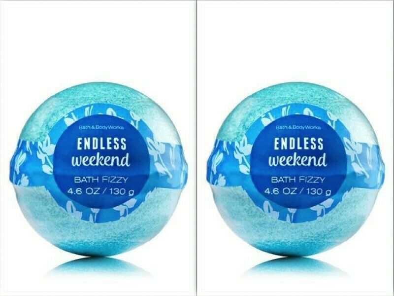 NEW Bath & Body Works Bath Fizzy ENDLESS WEEKEND Bath Bombs LOT OF 2 - $11.26