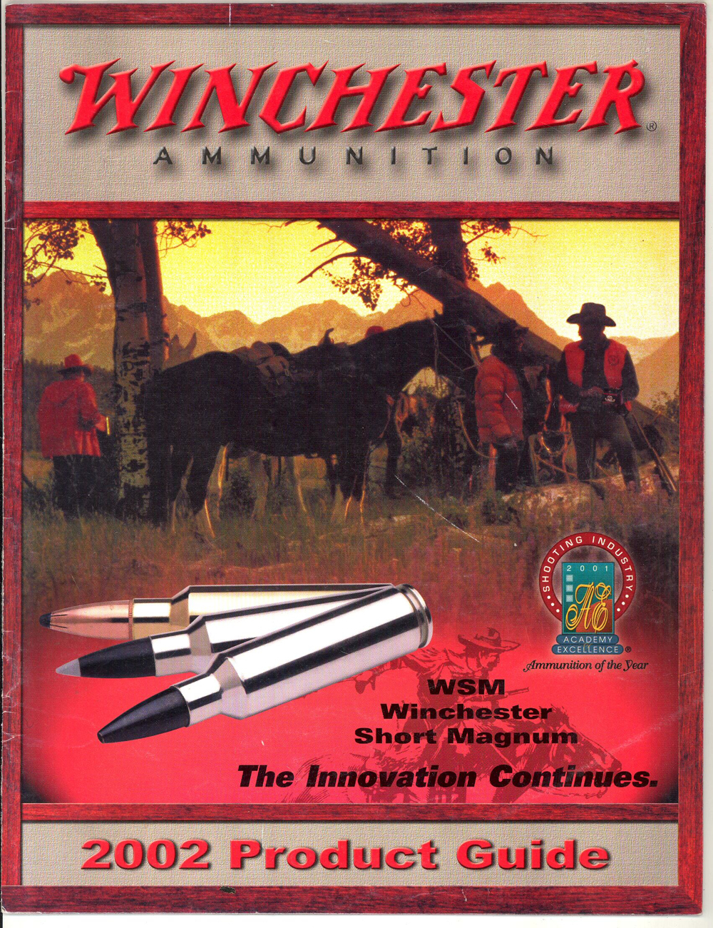 Primary image for Winchester ammunition catalog product guide 2002 boxes bullets advertising