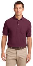 Port Authority K500P Men's Soft Pocket Polo Shirt - Burgundy - $16.38+