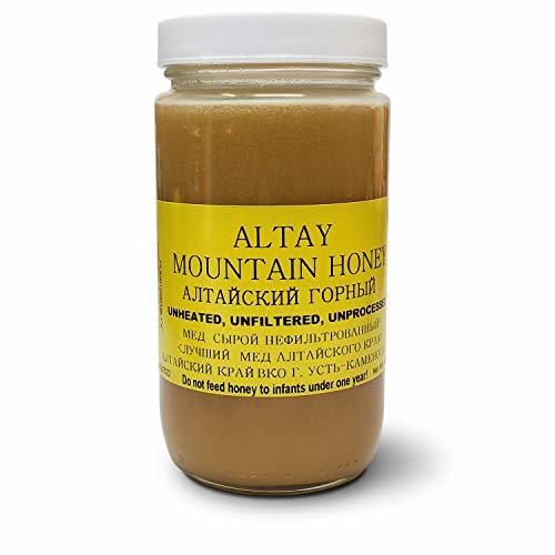 Altay MOUNTAIN Raw Unfiltered Unprocessed Honey 1Lb Glass Jar