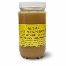 Altay MOUNTAIN Raw Unfiltered Unprocessed Honey 1Lb Glass Jar image 1