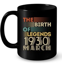 Vintage 1930 MARCH The Birth Of Legends 88 Years Old Awesome - $13.99+