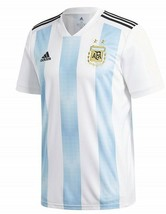 adidas Mens Argentina Official Jersey, White/Clear Blue/Black, Small  - £40.45 GBP