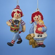 "3.75"" Raggdy Ann/andy Blow Mold Ornament Set Of 2 - $25.00"