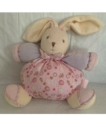 "Kaloo Imagine Chubby Rabbit Pink 7.5"" Plush Stitched Baby Toy Puffy - $15.83"