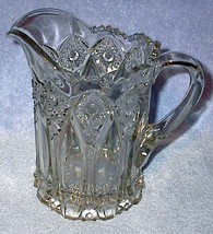 EAPG Old Vintage Press Pattern Glass Heavy Water Pitcher - $29.95