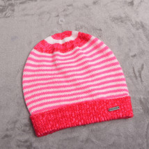 HOLLISTER Womens CAP HAT BEANIE OSFA Pink Striped NWT - $21.03