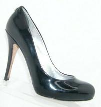 Ivanka Trump Pinkish black patent leather almond toe slip on heels 8.5M 7612 - $31.43