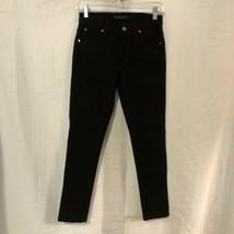 James Jeans Womens 26 Jeans Twiggy Black Textured Skinny Slim Fit - $19.98