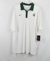 New Nike Mens XL Dri Fit Michigan State Spartans Football Golf Polo Shir... - $35.59