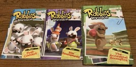 Rabbids Invasion Books Lot Of Three Case Files #1-3 Two Paperback One Ha... - $12.19