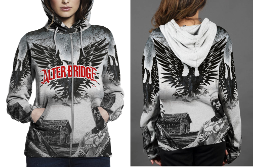 Alter Bridge Blackbird HOODIE ZIPPER FULLPRINT WOMEN