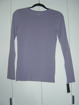 Mossimo Purple and Grey Striped Tissue Tee (Size: Small) NWT - $12.00