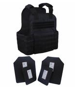 Tactical Scorpion Gear 4 Pc Level III AR500 Body Armor Plates Molle Vest... - $178.15