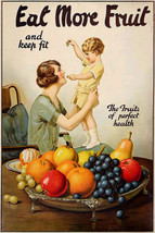 Art print POSTER eat fruit by joseph-bruno moran 1920vintage - $2.96+