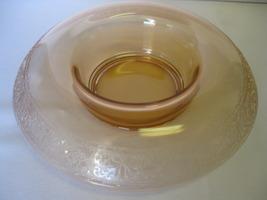 "Elegant Etched Depression Glass 10"" Rolled Edge... - $46.99"