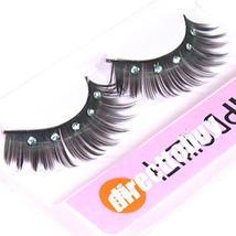 5 PAIRS FALSE DIAMOND EYELASHES Eye Lash Mascara w GLUE - $4.89