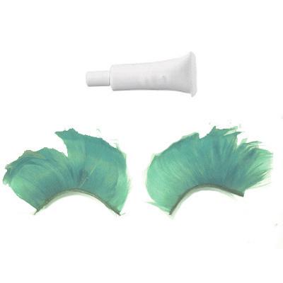 Handmade feather Green False Eyelashes Eyelash 4 X'mas Bonanza