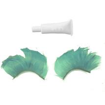 Handmade feather Green False Eyelashes Eyelash 4 X'mas - $5.41