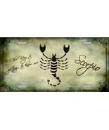 Scorpio Decorative Sign Tag License Plate - $19.34