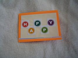 Happy, Happy Birthday Card, Handcrafted scrap happy card - $4.95
