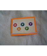 Happy, Happy Birthday Card, Handcrafted scrap happy card - $4.95