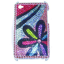 BLING FLOWER SHELL COVER CASE for iPod Touch 4th Gen - $7.35