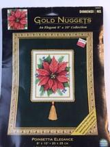 Dimensions Gold Nuggets POINSETTIA ELEGANCE XMAS Cross Stitch Kit - $23.36