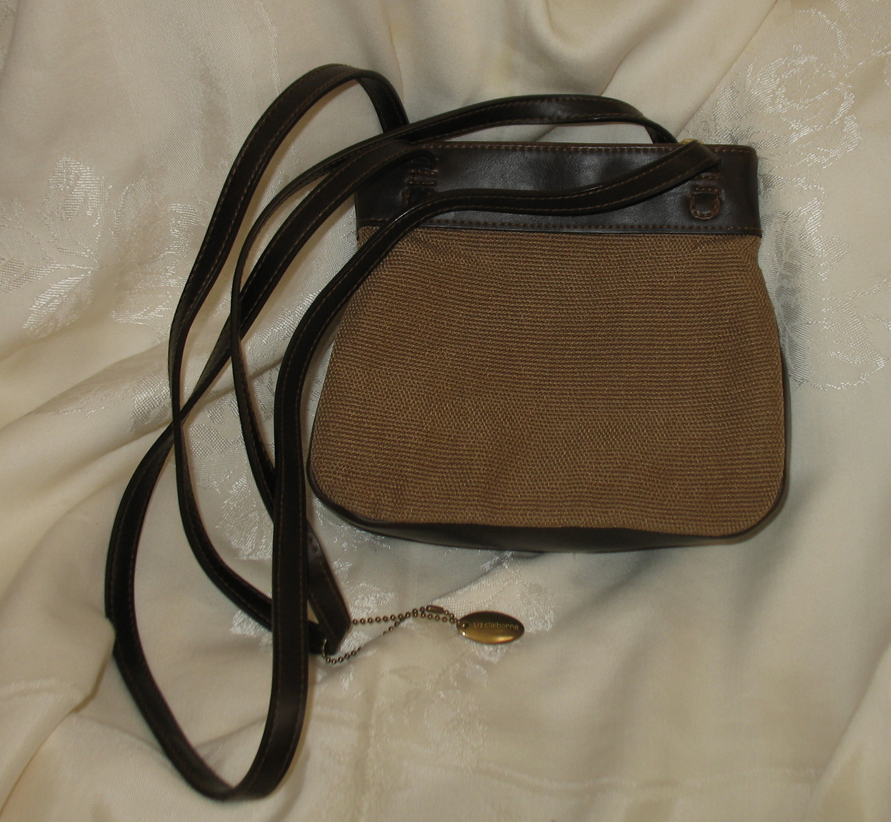 Vintage Liz Claiborne brown/beige Handbag Purse Leather Like