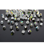 100Pcs Top Quality Czech Crystal Bicone Beads Exclusive 3mm 4mm Crystal ... - $3.76+