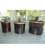 Set of 3 Brown Crocks with Bale 3 Sizes - $23.76