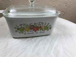 Vintage Corning Ware Spice of Life P-4-B  7 X 5-1/2 x 3 inch Loaf Pan w/... - $18.66