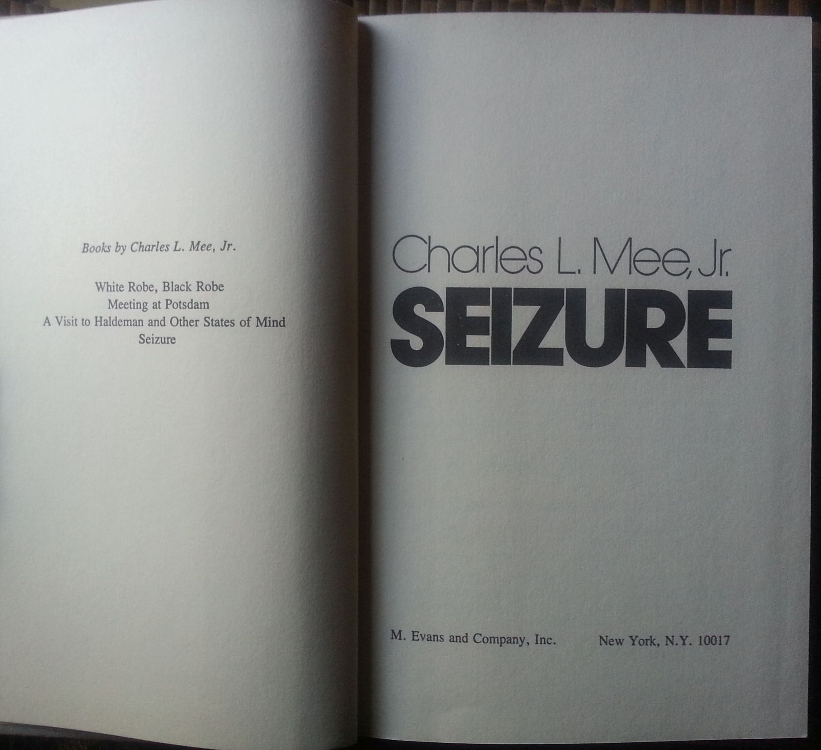 Seizure by Charles L. Mee, Jr. 1978 HBDJ Lose Ability to Sing?