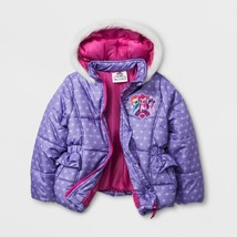 NEW Girls My Little Pony MLP Puffy Puffer Coat Jacket Size 4 5 6 6x Rain... - $22.99+
