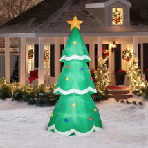 Gemmy Airblown Christmas Inflatable 10' Giant Tree Prop Outdoor Decor - £98.49 GBP