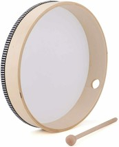 Foraineam 10 Inch & 8 Inch Hand Drum Percussion Wood Frame Drum with Drum Stick image 2