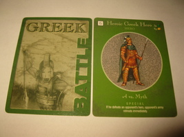 2003 Age of Mythology Board Game Piece: Greek Battle Card - Heroic Hero  - $1.00