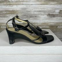Circa Joan And David Womens Black Open Toe Buckle Slingback Block Heels ... - $38.60