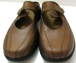 Merrell Womens Sz 7 Topo Clutch Deer Tan Leather Mary Jane Mule Slides S... - $59.39