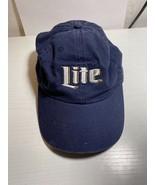 """Miller Lite Adjustable Adult Ball Cap Hat """"It's Miller Time"""" - $14.01"""