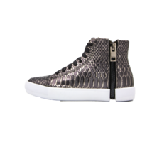 DIESEL S-Nentish Women's High Top Zip-Round Fashion Sneaker Gunmetal Size 8 New - $119.69