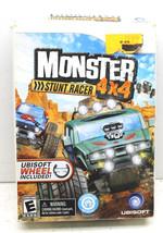 2009 Ubisoft Wii Monster Stunt Racer 4X4 Game+Steering Wheel Rough Box U... - $32.71