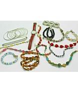 Costume Jewelry Lot Bracelets Bangles Watches Beaded - $7.71